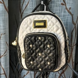Betsey Johnson Quilted Heart Convertible Backpack